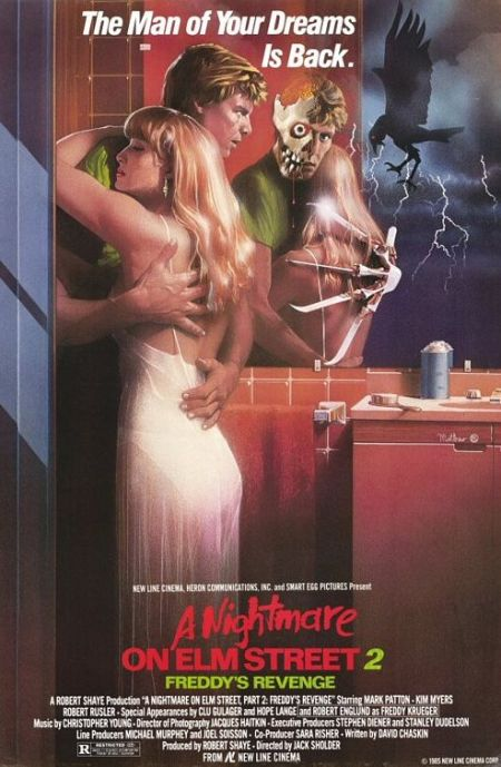 "Afiche de ""A Nightmare on Elm Street Part 2 - Freddy's Revenge""."