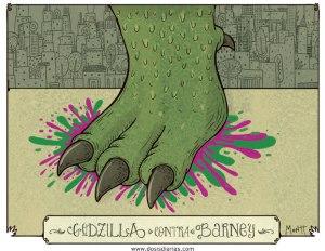 Godzilla contra Barney